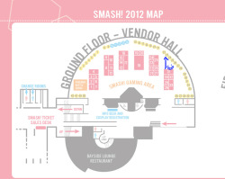 happy print salesman will be at smash 2012! come visit us here : D table 23 'u'