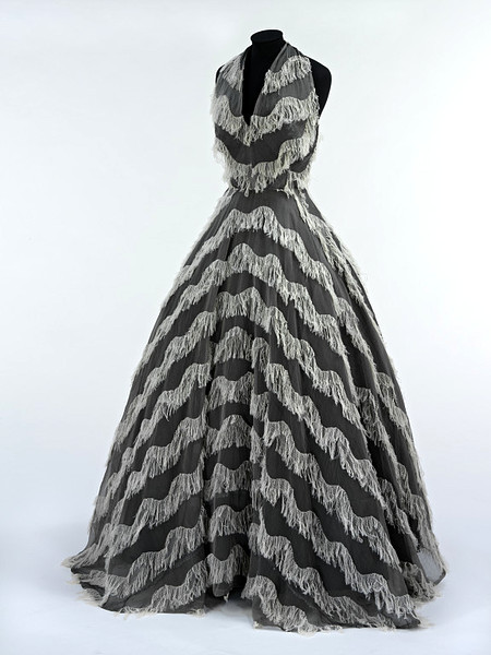 Jacques Griffe | c. 1951 This looks very similar to a dress from the Met (?) from the 1850s-60s. I can't find it now. Anyway, it is amazing.