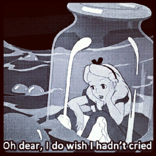 #AliceinWonderland #Alice #Cried #Bottle #TrappedinaBottle #Girl #Awh #Sad #Pool #PoolofTears #Salty #Mmm #SuddenlyISee (Taken with Instagram)
