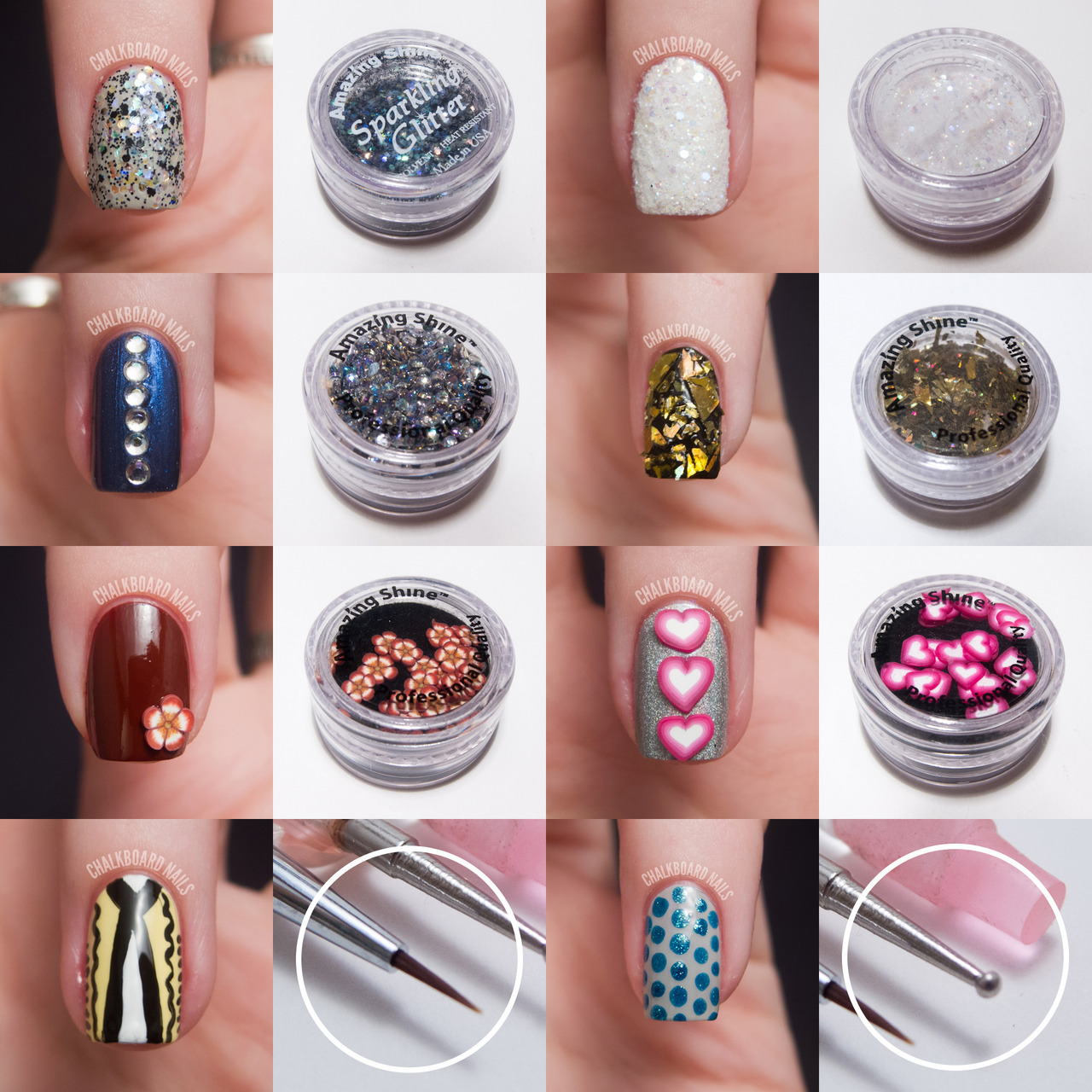 Amazing Shine Nail Art Kit Review This kit is currently only available on Walgreens.com. Check out the post on ChalkboardNails.com for more photos, a kit breakdown, and full review.