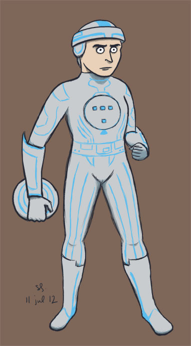 DAY 10. STYLE DAY 1 - pick a artist with a unique style and emulate it! Tron in the Aaron Diaz/Dresden Codak style