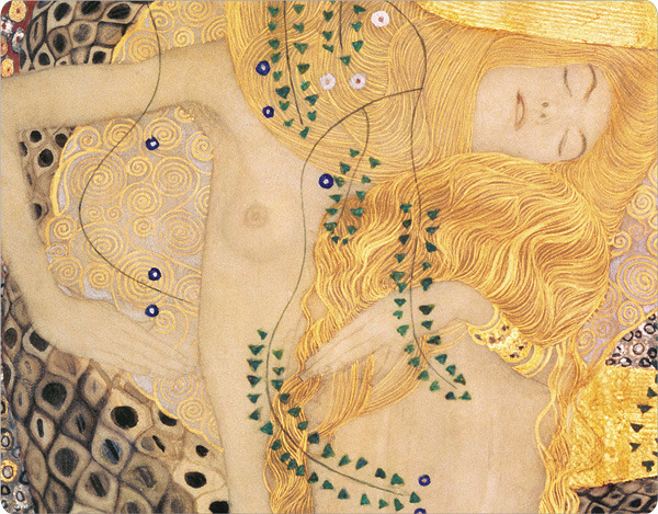 descroissants:  Water Serpents I Gustav Klimt (Detail, c. 1904-07)