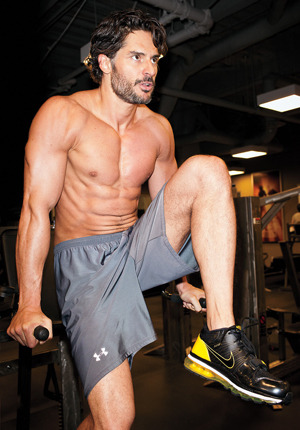 Joe Manganiello at the gym —- WOOF