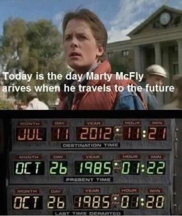 Step Into the Smarter Planet Time Machine! For a little (early — see picture and special date below) Friday Fun, try one of these three settings: …One Week Ago …One Month Ago …One Year Ago Or for quintessential quantum experience, try the Random button to sample one of the more than 4000 posts about All Things Smarter since we started three years ago in November, 2008. You are welcome to like or reblog your favorites to feed our collective intelligence on those posts that best reflect how the world's systems can become more sentient and senseable. Of course, you can always browse through the misty mountains of Smarter Time via the Archive. Or for a real time warp, scroll through all the Time Machine posts. Want to hold Smarter Planet in your hand? Get the mobile apps for iOS and Android. (about the image) markcoatney:  zadi:  Today is July 11, 2012. #backtothefuture  Remember to say hello….