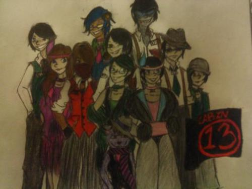 salu-alin:  Cabin 13 plus their South Stitch girls, as 1920's gangsters and flappers.How ya like it.