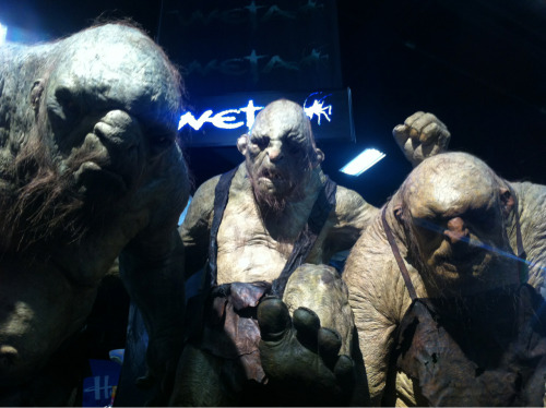The 3 giant trolls from the Hobbit on the Weta stand. They are 1:1 scale, its pretty cool.