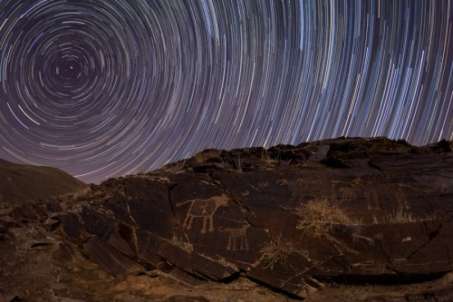 n-a-s-a:  Teimareh Petroglyphs and Star Trails  Image Credit & Copyright: Babak Tafreshi