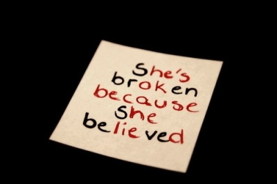 hilarhieouscratch:  She's broken because she believed. He's ok because he lied.