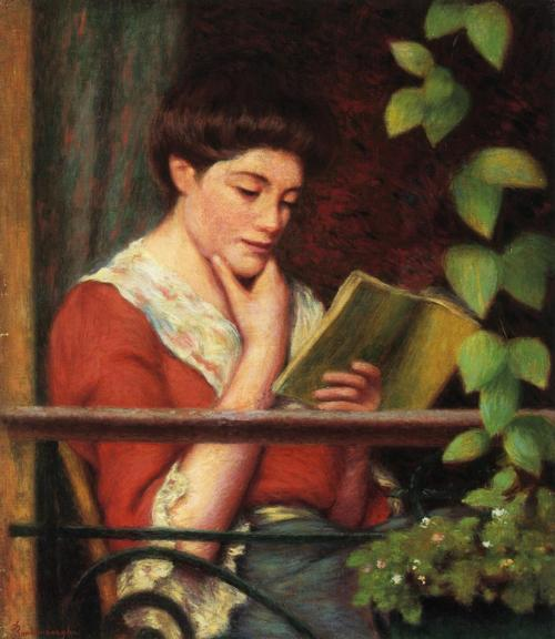 labellefilleart:  Reading by a Window, Federico Zandomeneghi