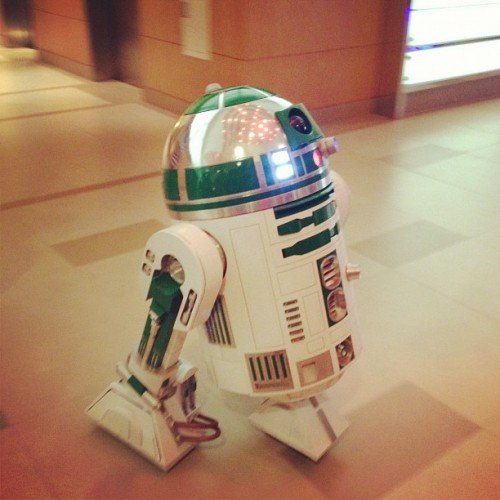 R2 staying at my hotel!  (Taken with Instagram)