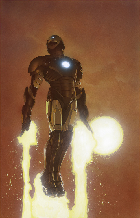 noahbodie:  Variant cover to Invincible Iron Man #3 by Travis Charest
