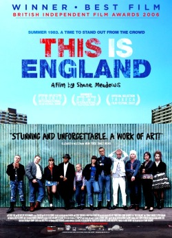 "THIS IS ENGLAND ""PUNK, SKA, REGGAE, DOC MARTEN, TROUBLED YOUTH""   This film directed by Shane Meadows really blew me away. Set in England in the early 80s, not only was this very interesting but also believable especially if you look at historical events that occurred at that time, the separation of races as well as the development of reggae and ska into a musical culture that is quite dominant. ""This Is England"" tells the story of a child struggles in adapting to the surrounding environment. Shaun, a teenage boy with a growing sense of resentment towards the environment and the world, at a young age, he must swallow a bitter pill when his father died during the Falklands War and in his search for identity, Shaun joined the group of a local Skinheads of which he thought in accordance with his vengeful nature and also realizing that his new family concentrated on nothing but music, away from politics.  I will not discuss further the story because there are some important things that much more interesting to discuss, namely how the Meadows in great detail trying to describe the situation of Britain in the Thatcher in a somewhat fascinating semi-documentary style film, scene by scene presented in authentic colors that correspond to the current time, I also admire the way Meadows in managing the neighborhood to make it look real with the existing buildings and graffiti-decorated walls.  This movie is worth watching and I recommend that you not waste time because every minute in this movie is worth it, especially if you want to know more about the dark side of England, which at that time was regarded in the golden period of the modern era."