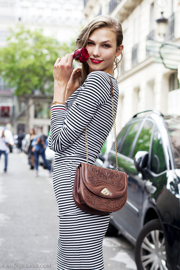 Karlie Kloss, after Jean Paul Gaultier's couture show in Paris on the 4th of July
