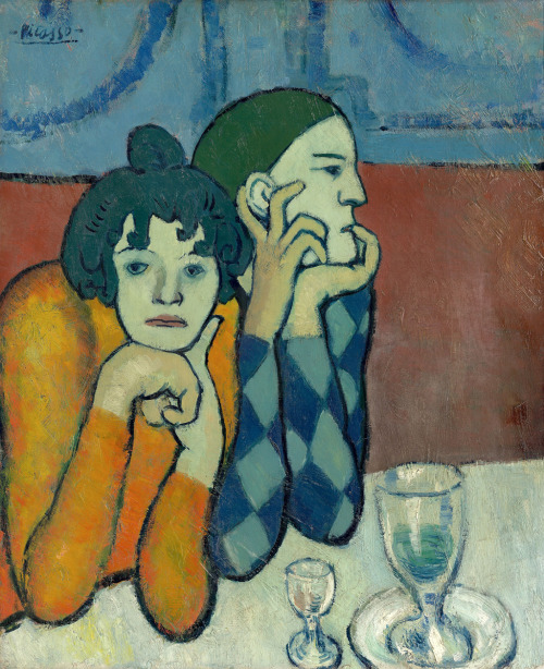 "Picasso - Les Saltimbanques, 1901 The harlequin & his companion - ""Picasso knew!"""