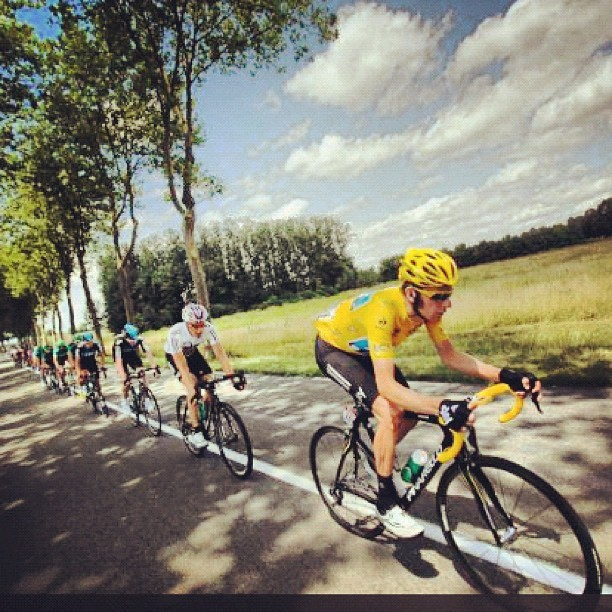 Stage 10 at the #tourdefrance #cycling #sports #france (Taken with Instagram)