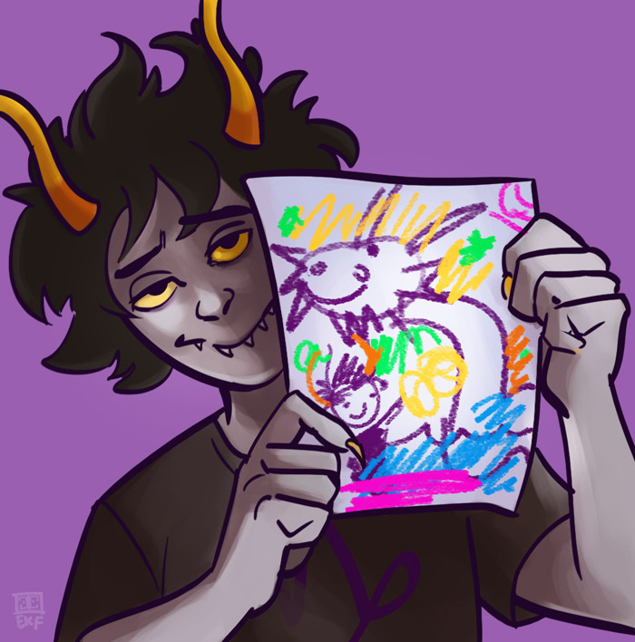 Day 9: favorite lusus goatdad all the way 31 Day Homestuck Fanart Challenge