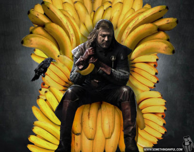 B AN AN AS, banans!  -or- Potassium is coming.