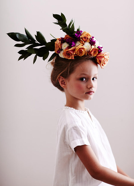 Floral headpiece. Photo by Chaunté Vaughn.