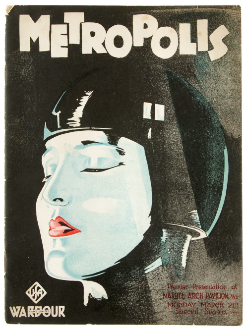 prostheticknowledge:  Metropolis Film Programme For London Premiere, 1927  Fascinating and insightful hi-res scan of an incredibly rare piece of film history - viaThe Cataloguer's Desk