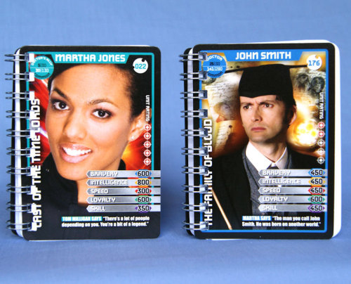 whocrafts:   This is the Doctor Who stuff I make: little notebooks from the trading cards. I've started putting them on etsy recently, too.   submitted by scribbly