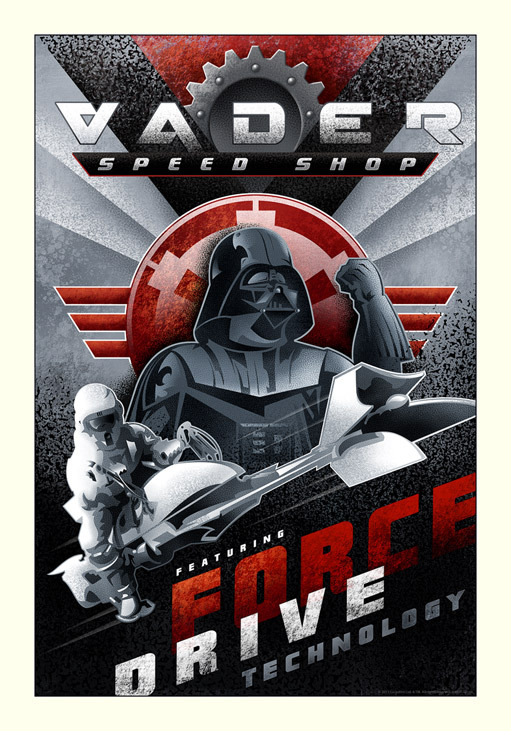 Vader Speed Shop by Mike Kungl, available at Acme Archives.