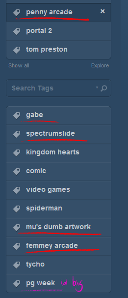 Tumblr: acknowledging that I draw Gabbie too much since 2012.
