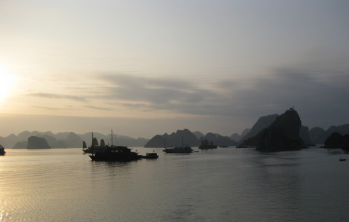 Sunset over Ha Long Bay, Vietnam (2008)
