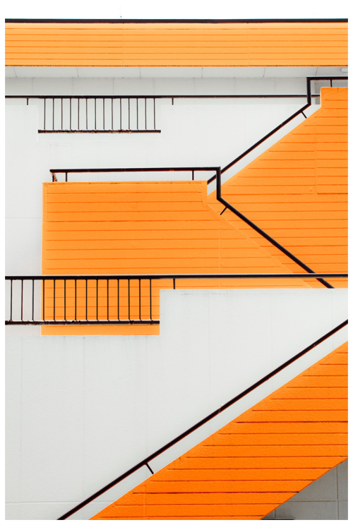 lushclub:  fresh-crisp:  userdeck:  Orange Stairs.  Design concept.  oh wow