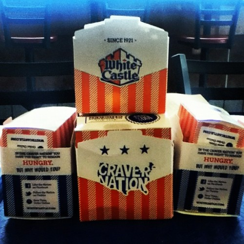 My castle.🏰 #whitecastle #indiana #sandwich #boxes (Taken with Instagram)
