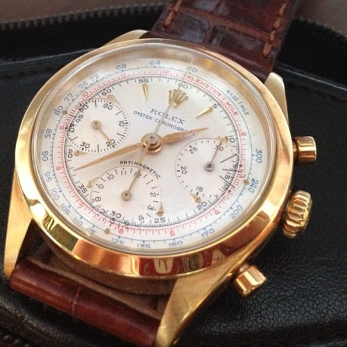 lnsee:  Not very often, in this condition. Tricolor Chronograph in gold.  (Taken with Instagram)