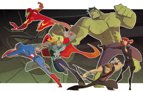 nargyle:  The Avengers by ~nargyle Done for now!