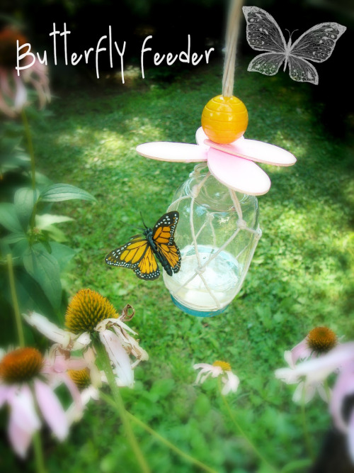 pixiedustcrafts:  Butterfly feeder tutorial. Includes the recipe for the butterfly food. http://motherrising.blogspot.com/2011/07/they-carry-me-butterflies-feeder.html?m=1