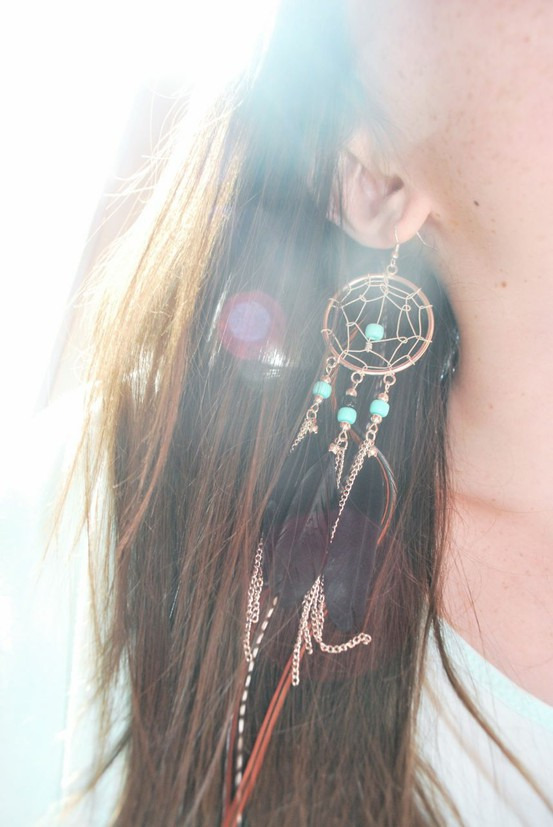 pixiedustcrafts:  DIY Dreamcatcher jewelry tutorial.  http://www.rtroncampus.com/2012/01/20/diy-dreamcatcher-jewelry/