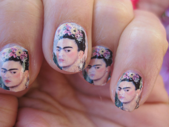 bleedgold:  frida kahlo nails