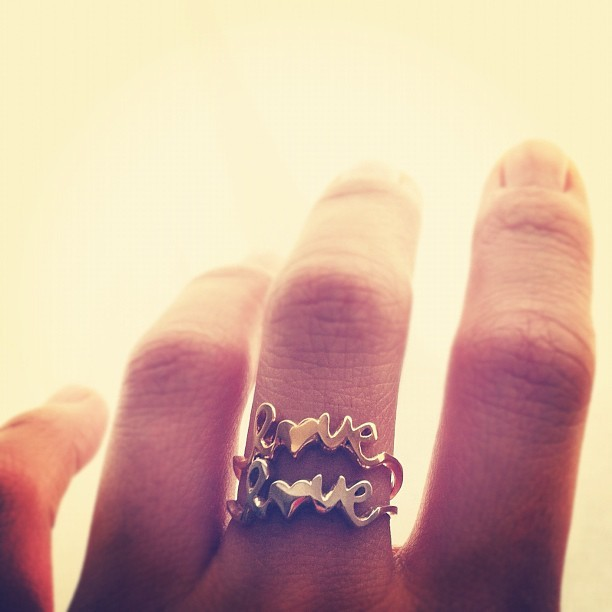 #love is all you need… #double love better #love ring #soraced http://instagr.am/p/M67PD2td4d/