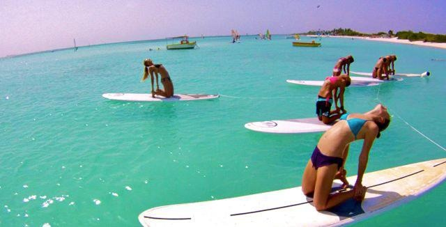 Next stop Aruba…look at that water!! #yoga #aruba #standuppaddle