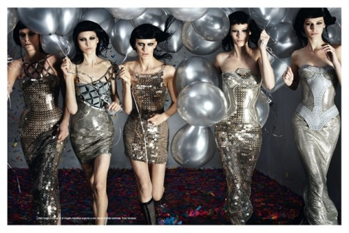Versace fall 2012 by Steven Meisel on Vogue Italia July 2012.