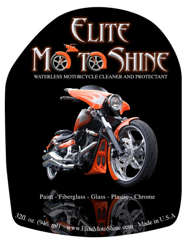 DEAL OF THE DAY!! Water-based, Organic, and ECO Friendly. Elite Moto Shine safely and effectively cleans, polishes, and protects without the use of water. It cleans and waxes all solid surfaces such as paint, plastic, fiberglass, glass, windshields and chrome. Elite Moto Shine contains high quality surfactants, polymers, and Carnuaba waxes. Each 32oz bottle will clean and protect an average size motorcycle 15-18 times! You will love the results!