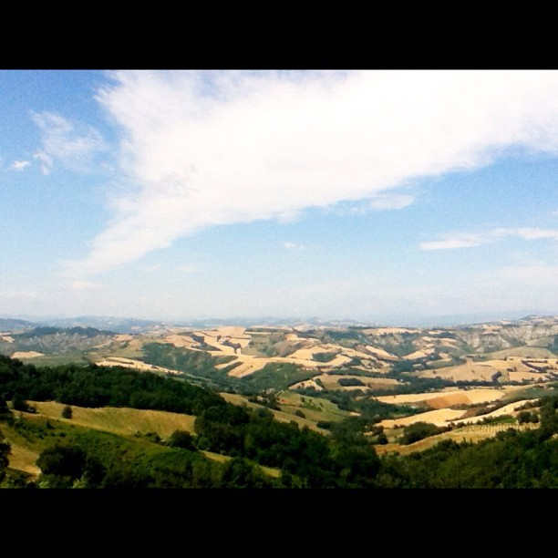 Great view from #Mondaino. #italy #blogville  (Taken with Instagram)