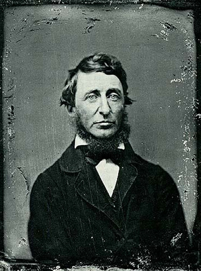 "laphamsquarterly:  Happy Birthday Henry David Thoreau, you delightful curmudgeon!  Remember when your friend suggested you take the train and you were all ""Bah! The swiftest traveler is he that goes afoot.""  Or that time you got frustrated while fishing and decided, screw it, I'm becoming a vegetarian.  Boy, you really love walking and really hate trains, don't you? That's cool, Henry, we'll take a hike with you. It's your birthday after all! More Henry David Thoreau from the LQ Archive"