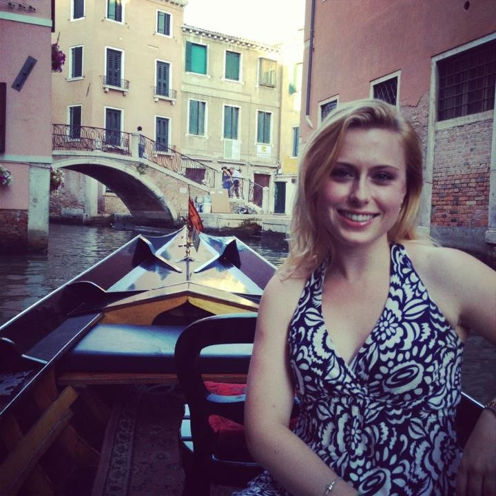 My gondola ride in Venice!