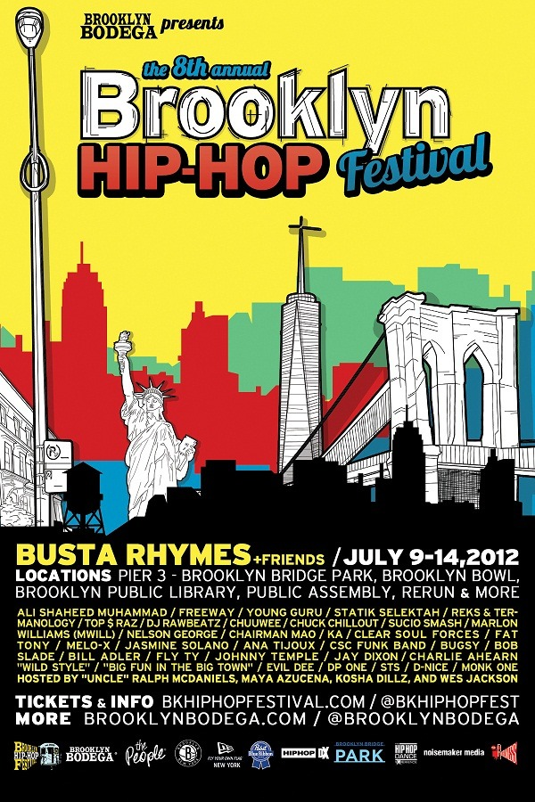 This Saturday is the Brooklyn Hip Hop Festival and there will be a Branded Baron booth there once again. Should be a good day with excellent performances, I'm looking forward to watching Busta Rhymes headline it.