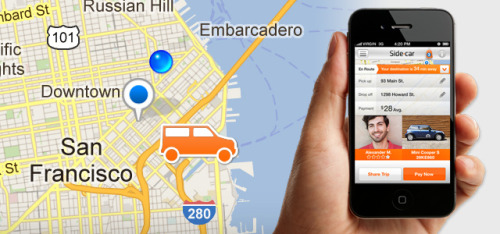 springwise:  App provides platform for community lift-sharing  While car sharing isn't a new concept, we've seen a few examples of startups simplifying the process. The Car Club has already provided a way for owners to rent out their unused vehicles in the UK, and now San Francisco-based SideCar enables people to take advantage of lifts from trustworthy drivers in the community. READ MORE…    File this under: ideas I had first.