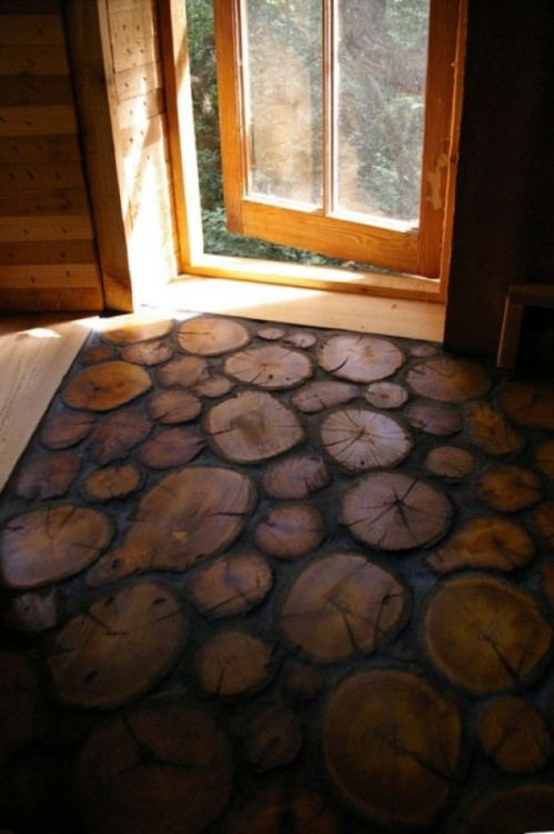 Log Tiled Floors.