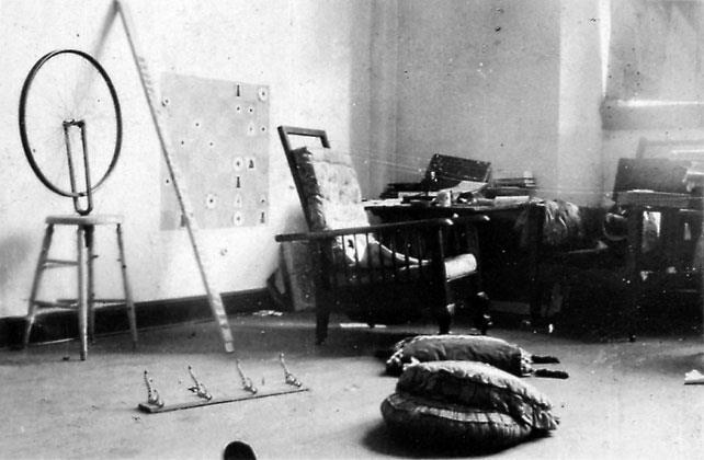 "Marcel Duchamp's Studio. Octavio Paz on Duchamp: ""He was fascinated by a four-dimensional object and the shadows it throws, those shadows we call realities."""