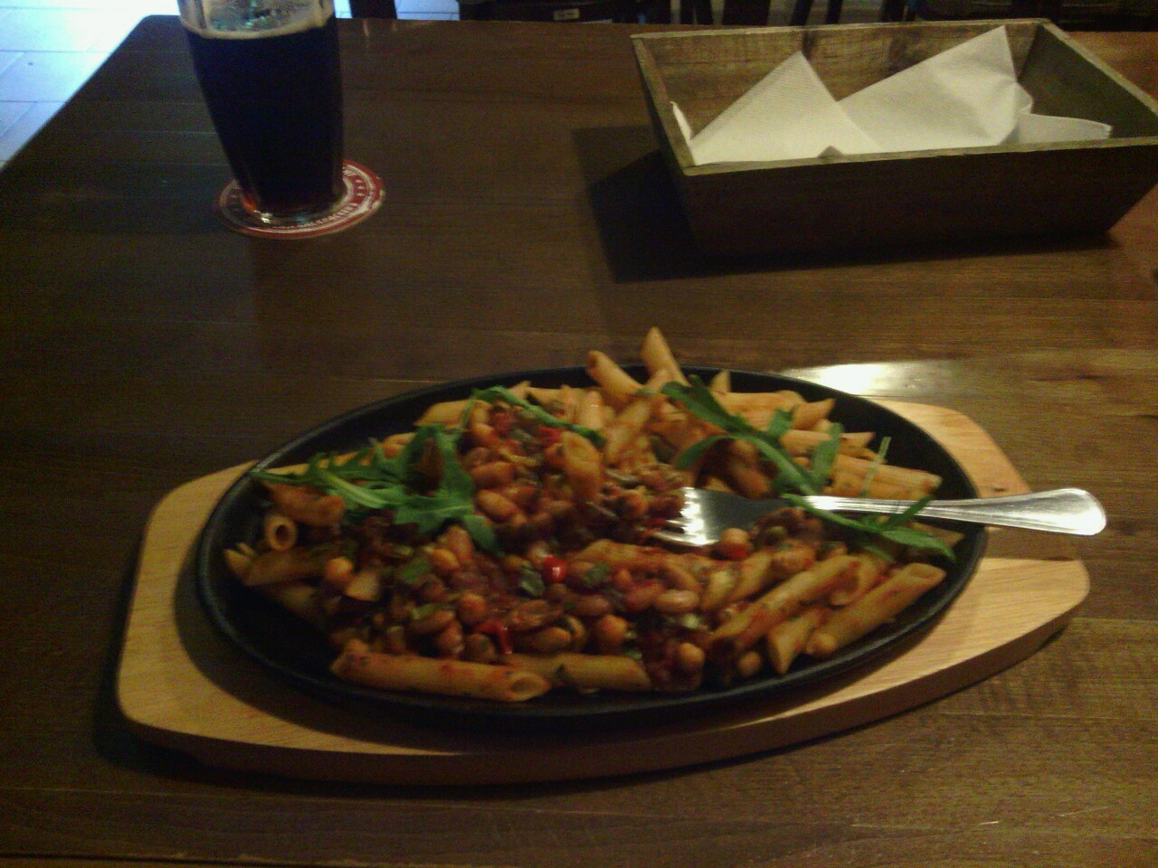 Nice vegan chilli in Downtown Backpackers Bratislava