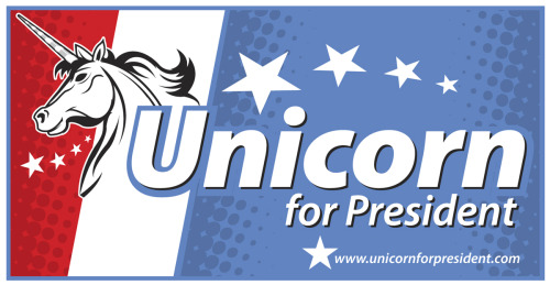 laughingsquid:  Unicorn for President