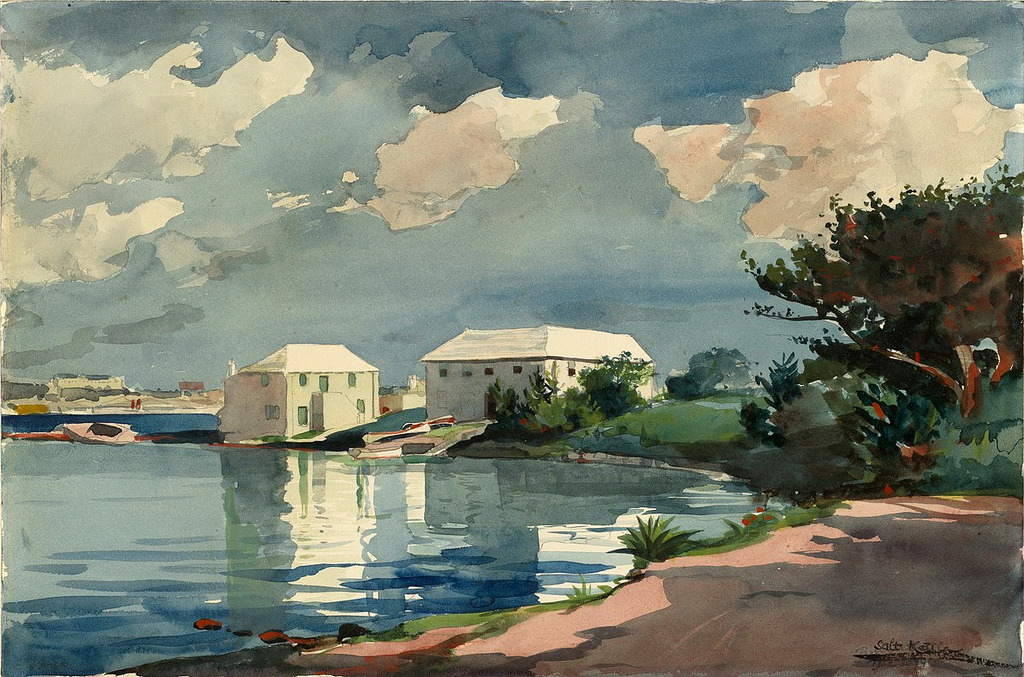 Winslow Homer - Salt Kettle, Bermuda, 1899. Watercolour over graphite