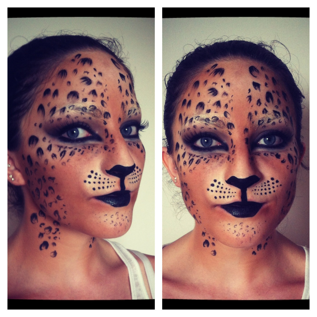 "showmemakeup:  Makeup I did on today's jungle themed shoot! ""Leopard"" on the lovely model - Joanna Power! Check out the video tutorial I created here - http://youtu.be/7kD8Pv2O4Ps   Subscribe to my makeup channel!www.youtube.com/smiles2310"