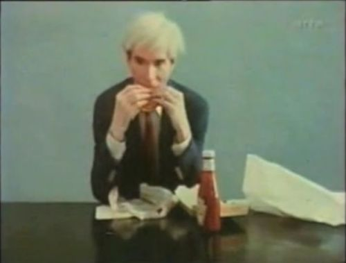 It's funny to see Warhol himself used as the subject, as a piece of art.